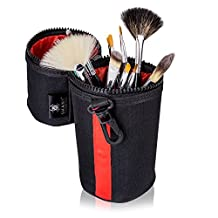 SHANY Cosmetics Urban Gal Collection Brush Kit (15 Piece Vegan Travel Brushes with Carry On Case), 13 Ounce