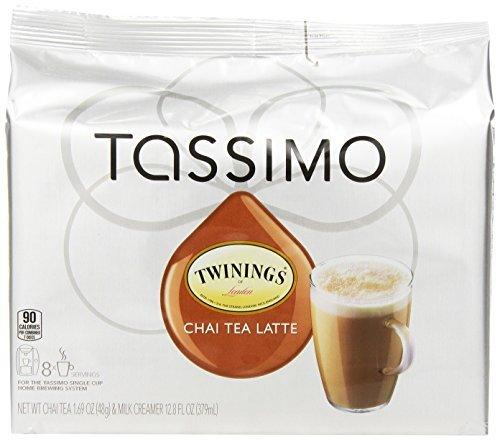 Twinings Chai Tea Latte, Cápsulas para cafeteras Tassimo, 8 Count ...