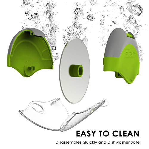 Kitchy Pizza Cutter Wheel - Super Sharp and Easy To Clean Slicer, Kitchen Gadget with Protective Blade Guard (Green)