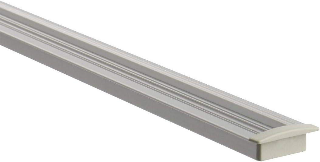 LEDKIA LIGHTING Profil/é Encastr/é en Aluminium 1m pour Rubans LED Translucide