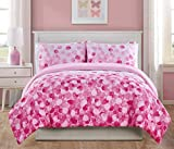 Give Your Room a Refreshing and Stylish Update with Beautiful,Soft,Elegant and Durable VCNY Home Cascade Bliss Ombré Bedding Comforter Set,Features Floating Dots and Pretty Pink Shades,Full