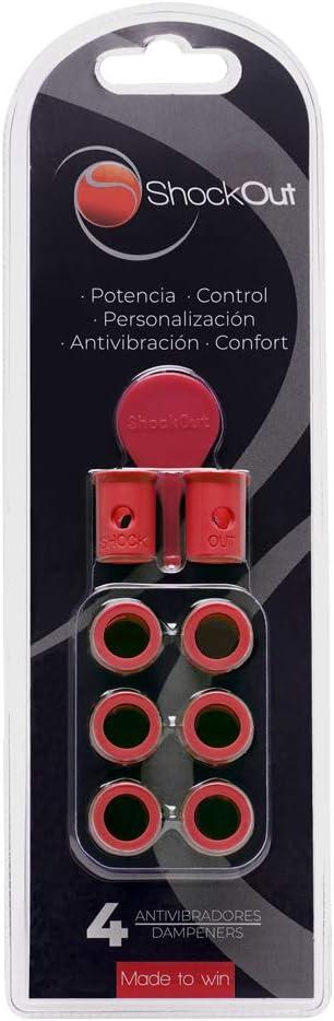 ShockOut Padel Dampers - Sistema antivibración para palas de pádel (rojo)