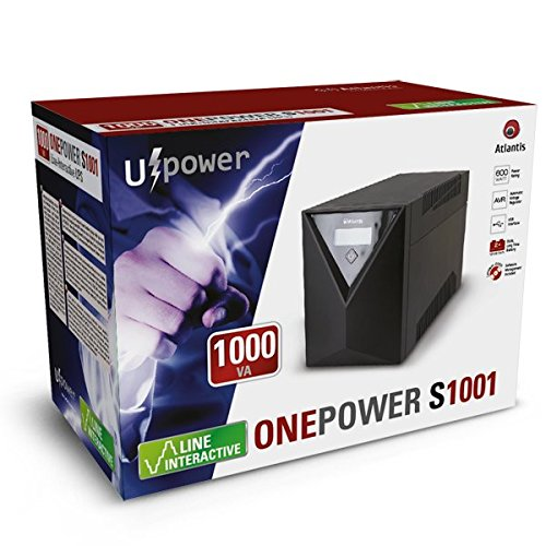 600 Watt Atlantis OnePower 1001 Gruppo di Continuit/à UPS