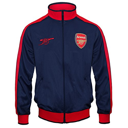 Arsenal FC Official Soccer Gift Mens Retro Track Top Jacket Navy Large