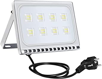 Sararoom 50W Foco Proyector LED Ultra Plano,IP65 Impermeable ...