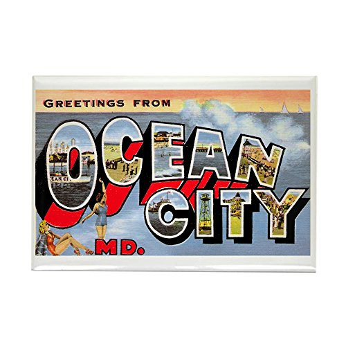 CafePress Ocean City Maryland Greetings Rectangle Magnet Rectangle Magnet, 2