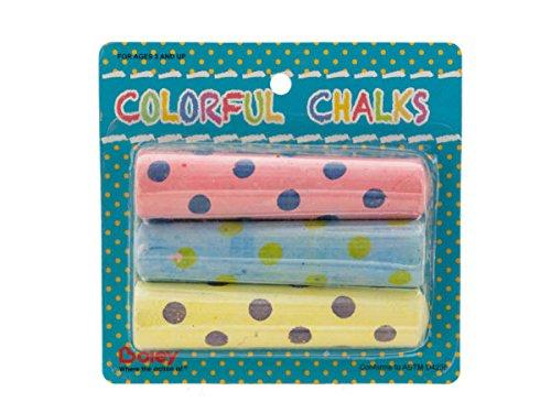 Polka Dot Sidewalk Chalk Set - Pack of 96