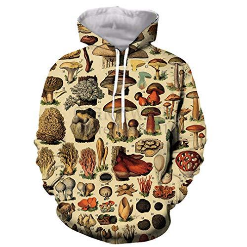 DILLFOREN Popular Mushroom Collage Hoodies Unisex 3D Print Most Streetwear 2 M