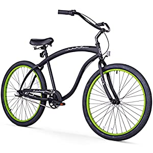 "Firmstrong Bruiser Single Speed Men's 26"" Beach Cruiser Bike"