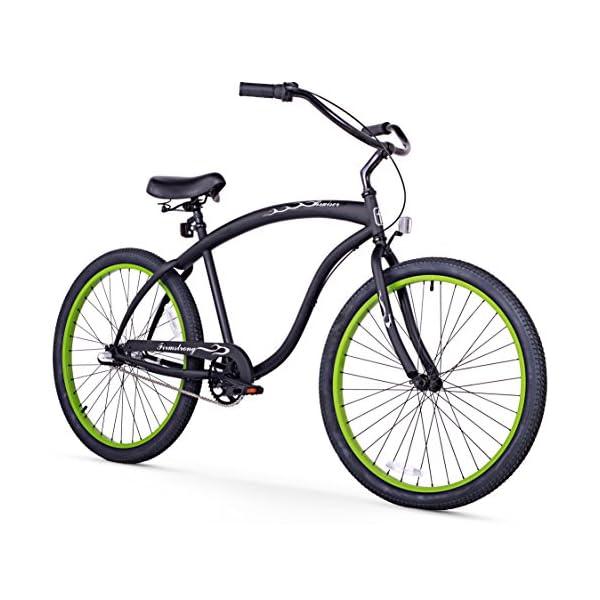 """Firmstrong Bruiser Single Speed Men's 26"""" Beach Cruiser Bike"""