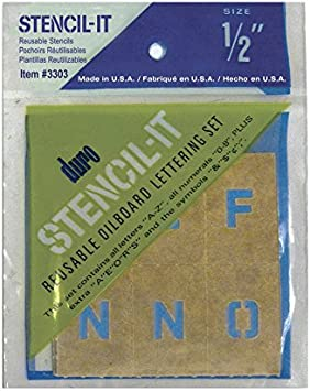 "Large Alphabet Stencils Letters 8/"" Stencil Oil Board Numbers Symbols Reusable"