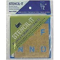 "Graphic Products Stencil-It Reusable Lettering Set-.5"""