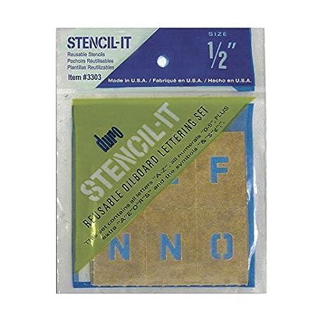 Stencil-It Reusable Lettering Set-2