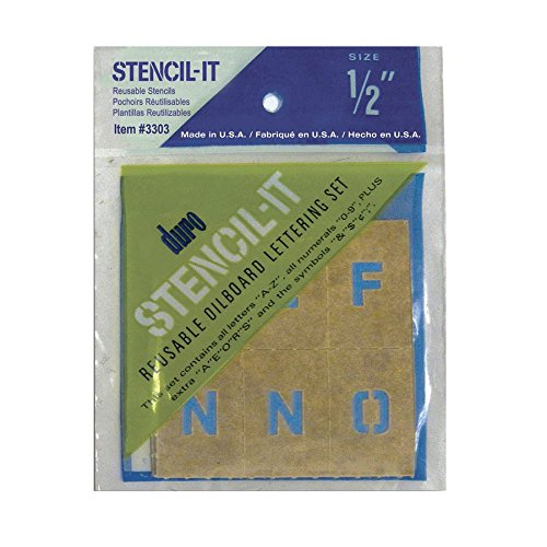 Duro by Graphic Products Stencil-It Oil Board Stencil Set, 1/2