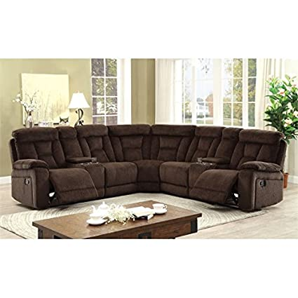 Tremendous Amazon Com Furniture Of America Daniah Reclining Sectional Pabps2019 Chair Design Images Pabps2019Com