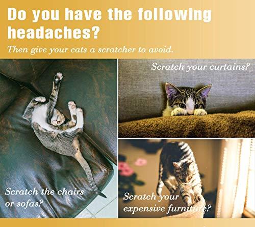 Citarum Erya Fun Pet Cat Scratching Post Cardboard/Grinding Cat Claw Toys/Cat Scratcher with Bell Catnip (Triangle)
