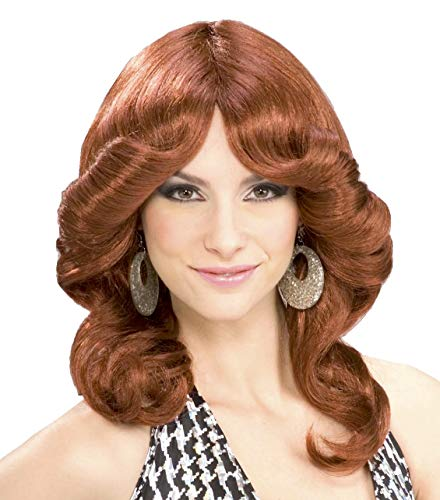 Forum Novelties Women's 70's Disco Doll Costume Wig, Auburn, One ()
