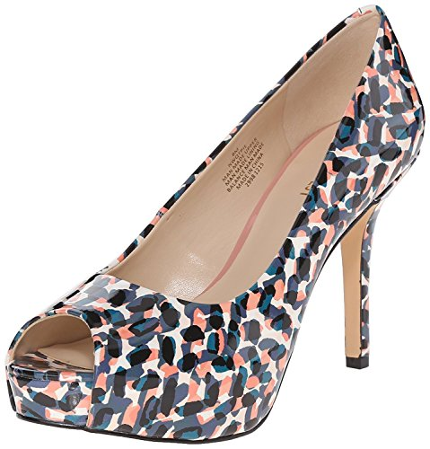 Pompe Habillée Qtpie Nine West Femme, Bleu Multi Synthétique, 36 B (m) Eu / 4 B (m) Uk