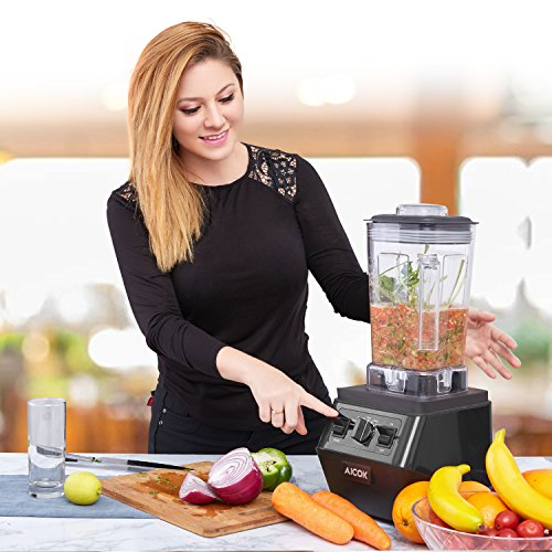Aicok Smoothie Blender 1400W Professional High Speed Mixer 30,000RPM, with 70oz BPA-Free Tritan Pitcher, Variable Speed Controls, Stainless Steel 6 Pro Blades for Ice Crushing, Black by Aicok (Image #4)