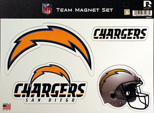 Rico Industries NFL San Diego Chargers NFL Team Magnet Sheet, Blue, 11