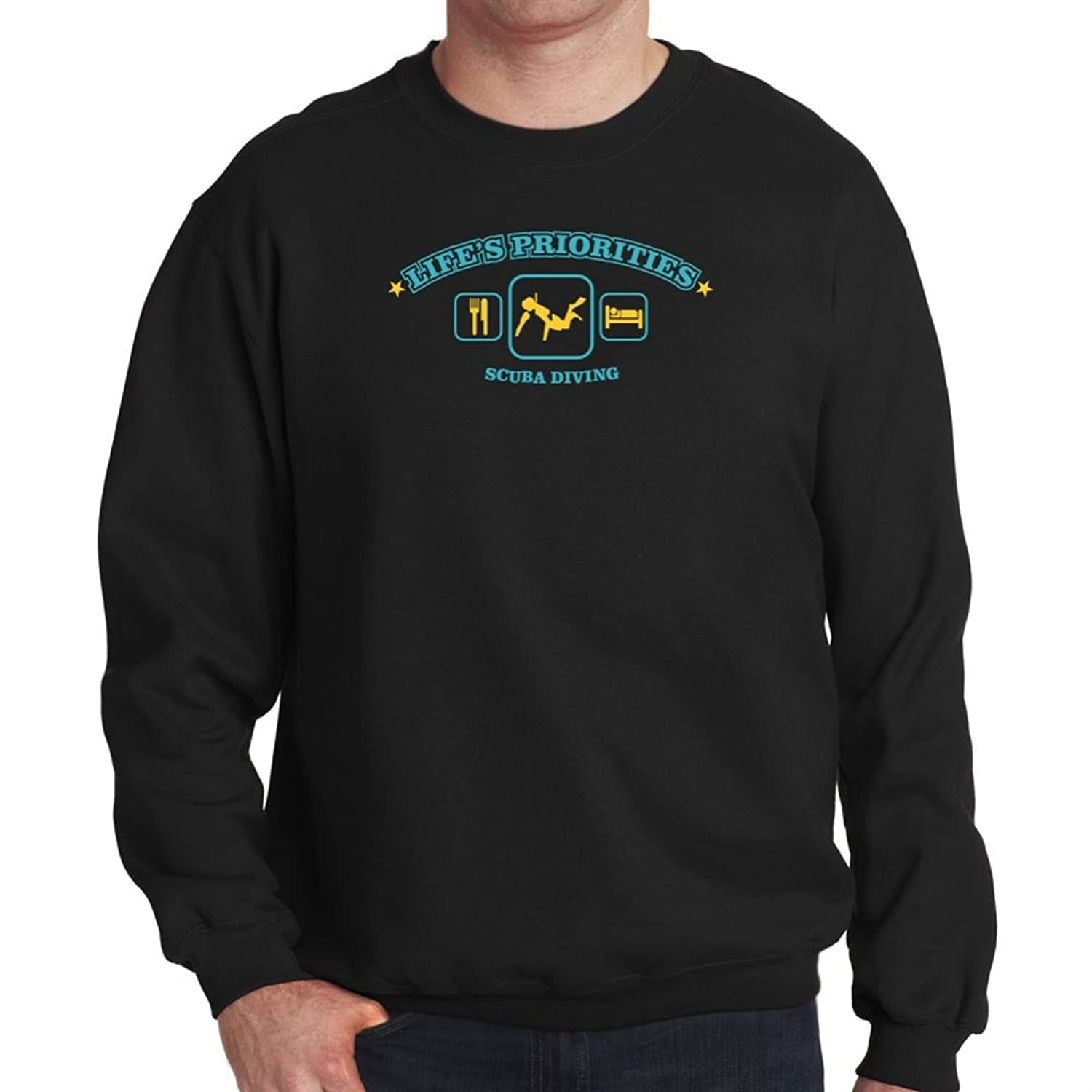 Life's priorities Scuba Diving Sweatshirt