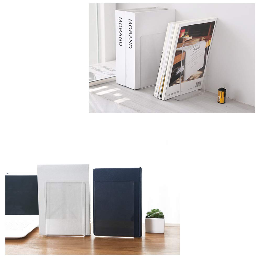 Bookends Pair Nonskid Heavy Metal Durable Sturdy Strong Books Organizer  Telephone Booth Bookshelf Decor Decorative Bedroom