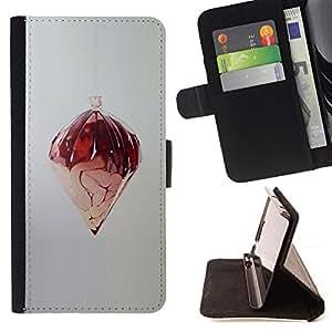 BullDog Case - FOR/Samsung Galaxy S6 EDGE / - / RANDOM ABSTRACT ART DESIGN STRUCTURE MODERN /- Monedero de cuero de la PU Llevar cubierta de la caja con el ID Credit Card Slots Flip funda de cuer