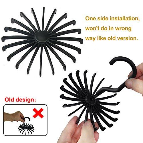 2 Pack Ipow Updated Twirl Tie Rack Belt Hanger Holder Hook