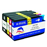 InkIF Compatible HP 950XL 951XL Ink Cartridegs for HP Officejet Pro 8100 8600 8610 8615 8620 8625 8630 8640 8660 251dw 271dw Printer High Yeild 4 Color (1 Black, 1 Cyan,1 Magenta,1 Yellow)
