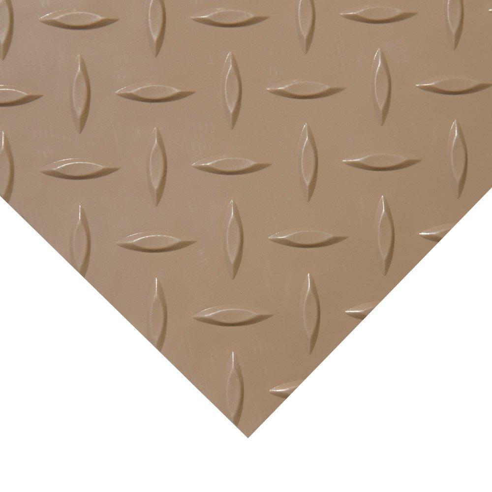 Amazon.com : Rubber Cal Diamond Plate Metallic PVC Flooring : Sports U0026  Outdoors