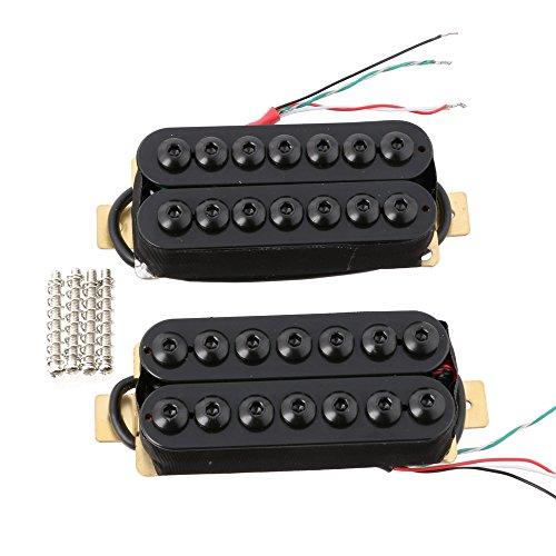 LYWS 2PCS Ceramic Magnet 7 String Guitar Humbucker Pickup Neck & Bridge Pickups Black