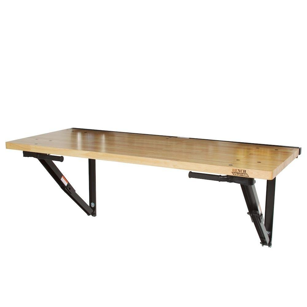 Commercial Duty Foldaway Workbench with 60 in. x 24 in. Work Surface and Locking Metal Supports