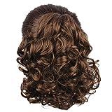 piece WeKen Hair Bun Medium Long Curly Synthetic Hairpiece Light Brown