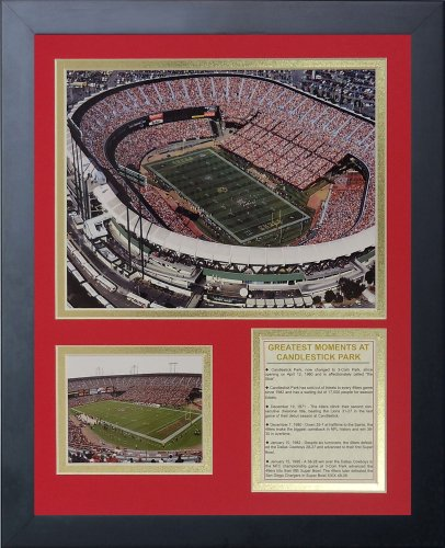 Legends Never Die Candlestick Park Framed Photo Collage, 11x14-Inch