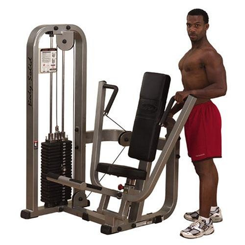 Body Solid Pro Club Line SBP100G3 Chest Press Machine with 310-Pound Weight Stack Body Solid