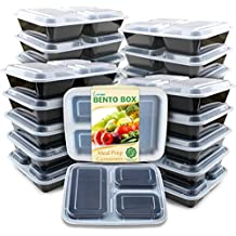 [Sponsored]Enther Meal Prep Containers [20 Pack] 3 Compartment with Lids, Food Storage Bento Box...