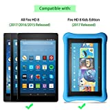 2017 All-New Fire HD 8 Screen Protector, SPARIN [Tempered Glass] [HD Clear] Screen Protector for Fire HD 8 (2017/2016/2015 Release) & All-New Fire HD 8 Kids Edition Tablet
