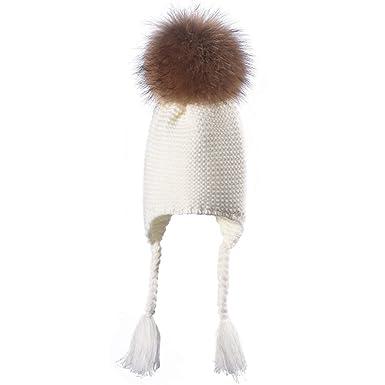 fd8574495d17a Cebbay Liquidación Gorros de Punto Bebe Capa Interior Suave Suelta Crochet  Invierno Mantener Caliente Recreación al