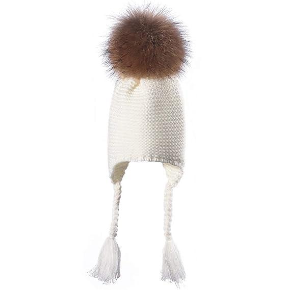Cebbay Liquidación Gorros de Punto Bebe Capa Interior Suave Suelta Crochet Invierno Mantener Caliente Recreación al