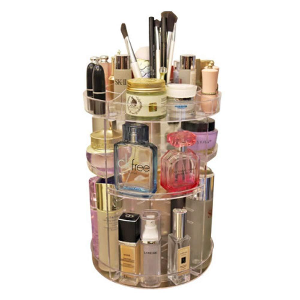 YHNMK Rotating Cosmetics Storage Box, Acrylic Dressing Table, Lipstick Beauty Finishing Rack, Beauty Box Storage, Beauty Storage Box, Beauty Storage Organizer Box, Storage Box Beauty,