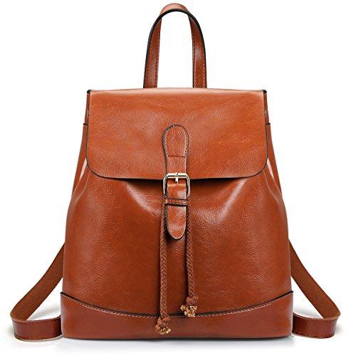 SAMSHOWME Women Backpack Purse PU Leather Shoulder Bag Casual Travel Bag for Girls (Brown) by SAMSHOWME
