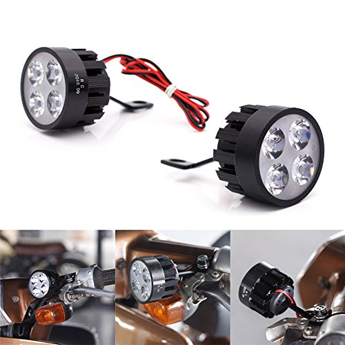 Cheap Tulas 1 Pair Motorcycle Led Headlight 8V-85V 6500K Super Bright Scooters Working Spot Light Refit Spotlight Motorbike Fog Lamp