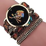 Creazy® Women Girl Rhinestone Skull Pattern Quartz Bracelet Wrist Watch