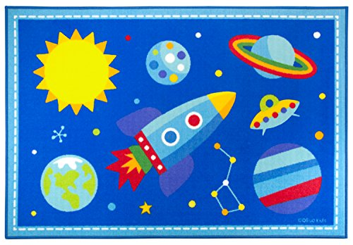 Play Rug, Wildkin Children's 39 x 58 Inch Rug, Durable, Vibrant Colors That Will Last, Perfect for Nurseries, Playrooms, and Classrooms, Ages 3+, Olive Kids Design - Out of this -