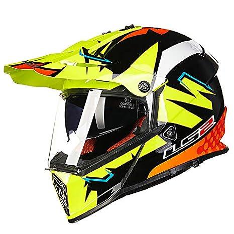Amazon.com: LS2 Helmets Pioneer V2 Casco de aventura para ...