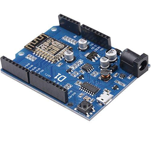 SODIAL ESP-12E ESP8266 UART WIFI Wireless Shield Development Board For Arduino UNO R3 R