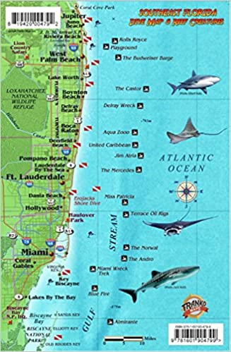 Southeast Florida Dive Map & Coral Reef Creatures Guide ...