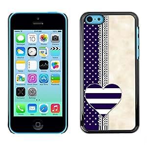FECELL CITY // Duro Aluminio Pegatina PC Caso decorativo Funda Carcasa de Protección para Apple Iphone 5C // Notebook Blue Beige White
