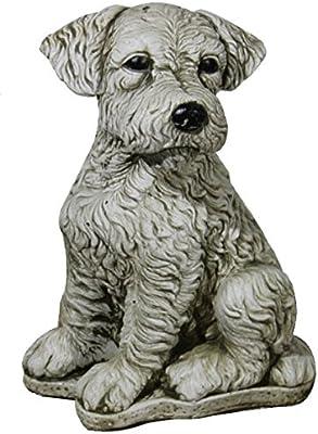 DEGARDEN AnaParra Figura Decorativa Perro Foxterrier de hormigón-Piedra para jardín o Exterior 32cm.: Amazon.es: Jardín