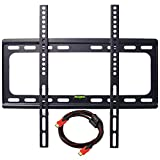 LCD LED Plasma Wall Mount, Costech Slim Low Profile 32-60 inch Corner Flat Screen Monitor TV Display Bracket MAX Vesa 400*400mm Load Capacity 110 LB Bubble Level included